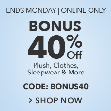 Bonus 40% Off Sale with CODE:BONUS40