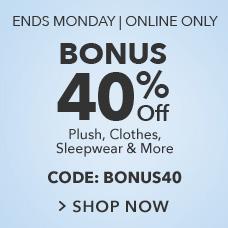 Bonus 40% Off Sale with CODE:BONUS40
