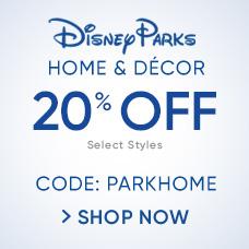 20% Off Disney Parks Home & Décor CODE: PARKHOME