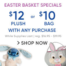 $12 Easter Plush or $10 Easter Bag with Any Purchase