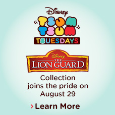 Disney Tsum Tsum Tsuesdays - Disney The Lion Guard Collection joins the pride on August 29 - Learn More