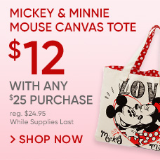 Mickey and Minnie Mouse Canvas Tote | $12 With Any $25 Purchase