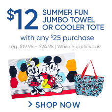 $12 Summer Fun Jumbo Towel or Cololer Tote with any $25 Purchase