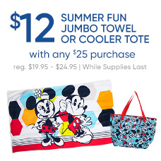 $12 Summer Fun Beach Towel  or Cooler Tote with any $25 Purchase