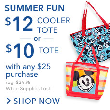 Summer Fun $10 Tote or $12 Cololer Tote with any $25 Purchase