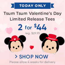 Tsum Tsum Valentine's Day Limited Release Tees