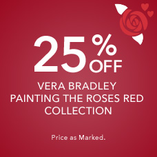 25% Off Vera Bradley Painting the Roses Collection