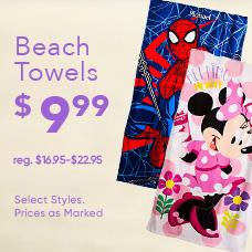 $9.99 Beach Towels
