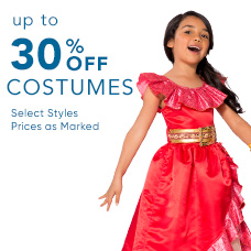 Up to 30% Off Costumes & Costume Accessories