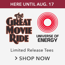 The Great Movie Ride and Universe of Energy Limited Release Tees