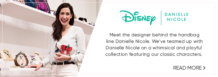 Disney | Danielle Nicole - Meet the designer behind the handbag line Danielle Nicole. We've teamed up with Danielle Nicole on a whimsical and playful collection featuring our classic characters.