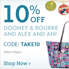 10% Off Dooney & Bourke and Alex and Ani - CODE: TAKE10 - Shop Now