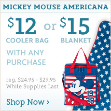 Mickey Mouse Americana - $12 Cooler Bag & $15 Blanket with Any Purchase - reg. %24.95-$29.95 - While Supplies Last - Shop Now