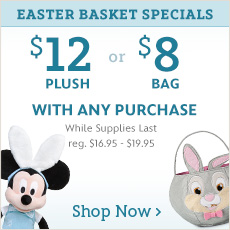 $12 Easter Plush or $8 Easter Bag with any Purchase - While Supplies Last - reg. $16.95-$19.95