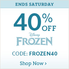 Ends Saturday - 40% Off Frozen - CODE: FROZEN40 - Online Exclusive - Select Styles - Shop Now
