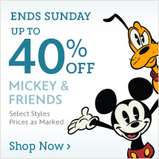 Ends Sunday - Up to 40% Off Mickey & Friends - Select Styles - Prices as Marked - Shop now