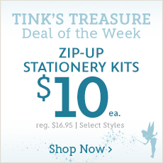 Tink's Treasure - Deal of the Week - Zip-Up Stationery Kits - $10 Each - reg. $16.95 - Select Styles - Prices as Marked - Shop Now
