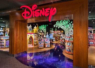 The Disney Store offers a one-of-a-kind, interactive experience for Disney fans of all ages. Disney Store's new design concept aims to deliver the best 30 minutes of a child's day through immersive experiences including a Disney Store Theatre, featuring the latest Disney entertainment.